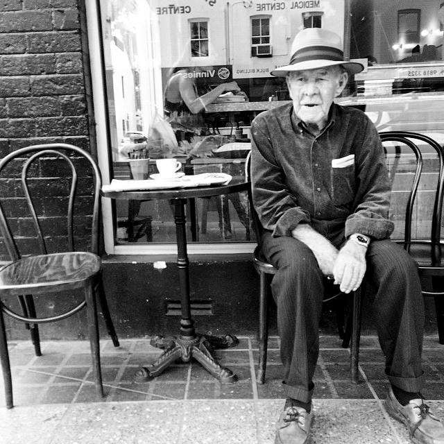 Jack - I met Jack in a cafe back in 2014 and had the pleasure of enjoying a coffee with him at his favourite table. Born in Balmain, and a gentleman of few words, we sipped our coffees quietly before he allowed me to take his portrait.