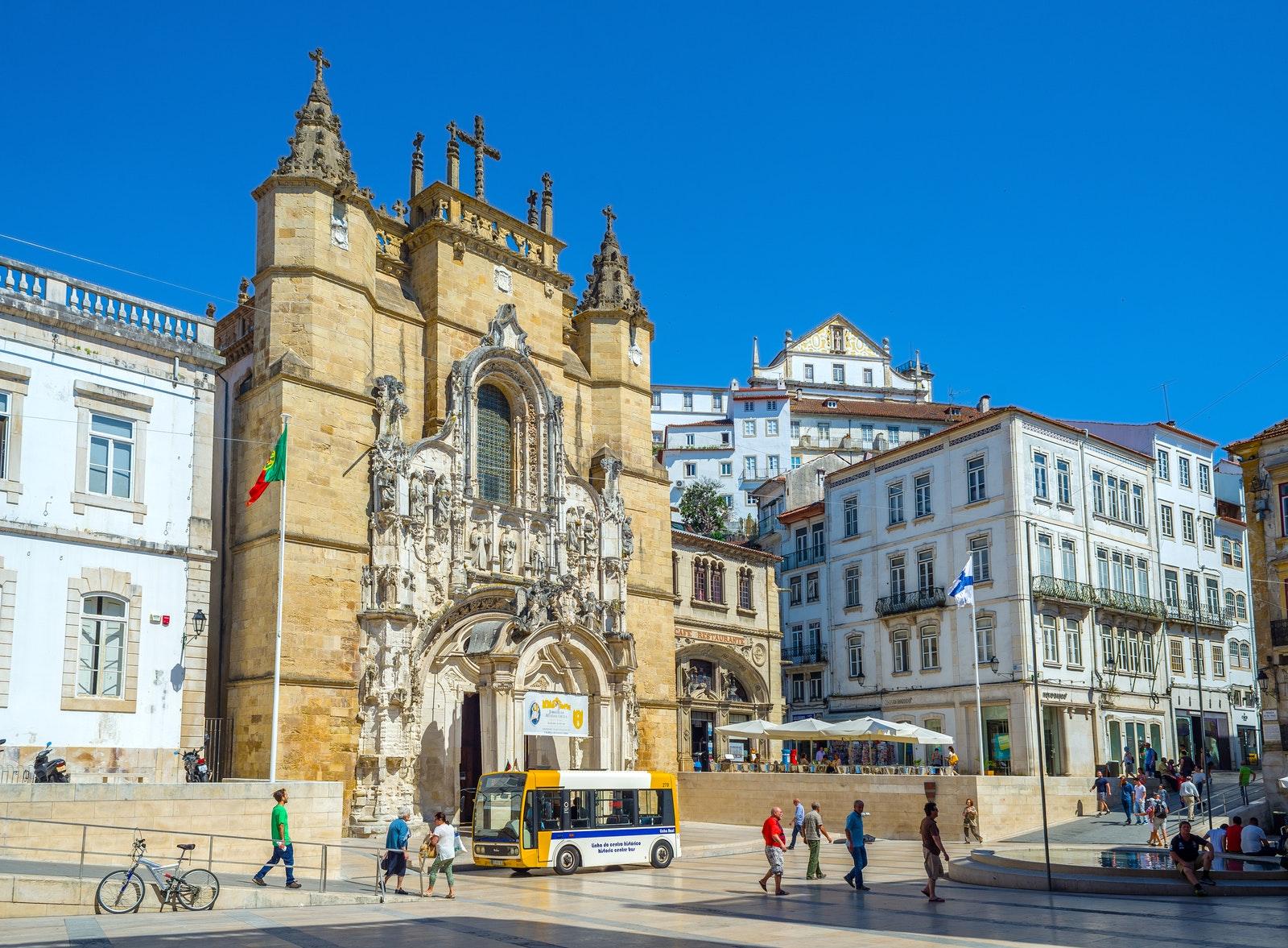 You can't miss the Monastery of the Holy Cross (Mosteiro de Santa Cruz) when you visit Coimbra