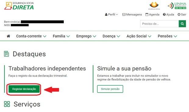 declaration sécurité sociale portugal freelance