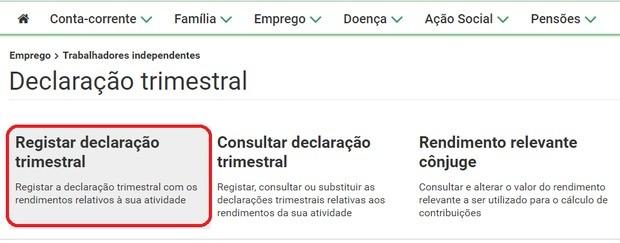 declaration sécurité sociale portugal