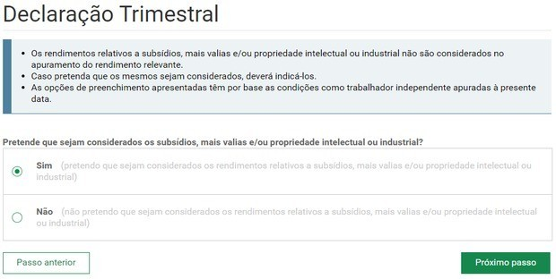 declaration auto entrepreneur Portugal