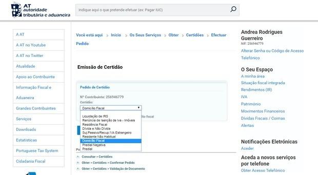 proof of address portugal