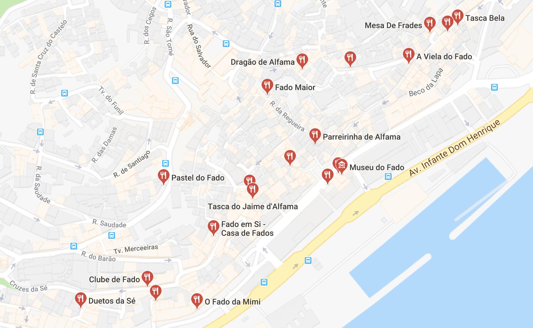 Maison de fado Lisbonne