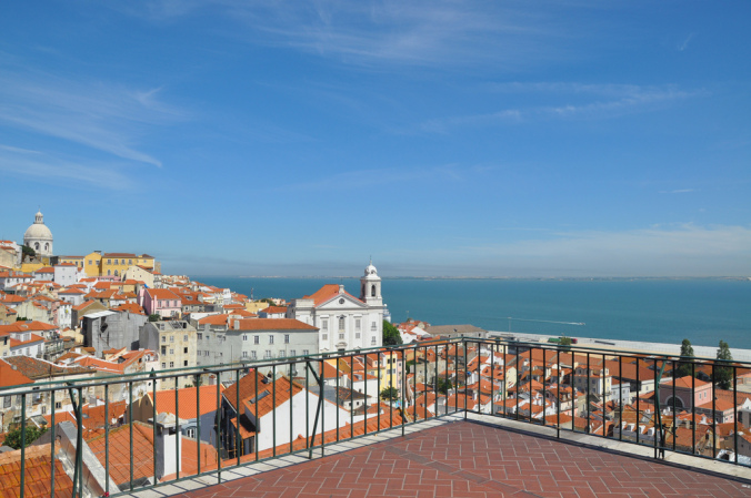 The Mirador das Portas do Sol is one of the most beautiful in Lisbon