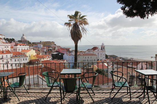 Enjoy a break in the sun to rest at the viewpoint of Santa Luzia