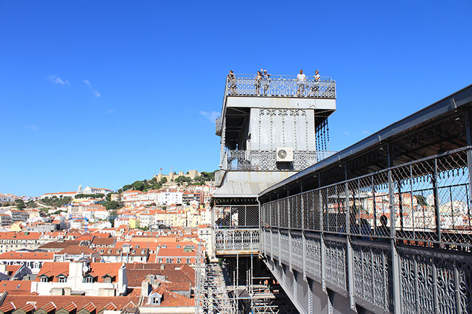 The Elevador de Santa Justa offers a breathtaking view of downtown Lisbon