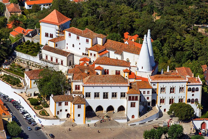 The  Sintra National Palace  is very impressive and you must visit it