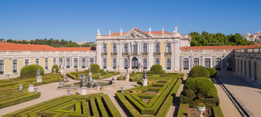 Located near Sintra, the Palácio Nacional de Queluz is one of the most beautiful in Portugal