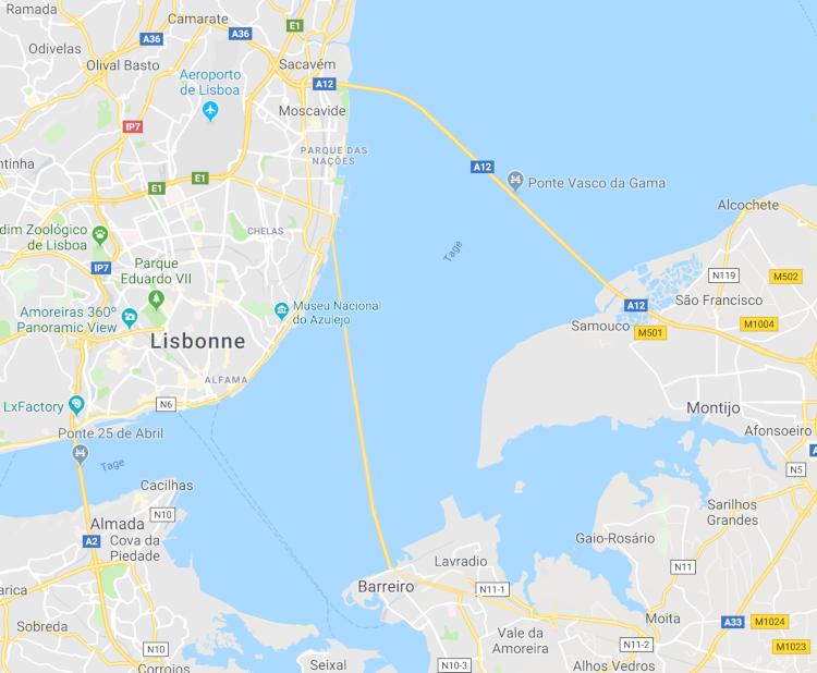 Le nouveau pont de Lisbonne devrait relier Chelas à Barreiro