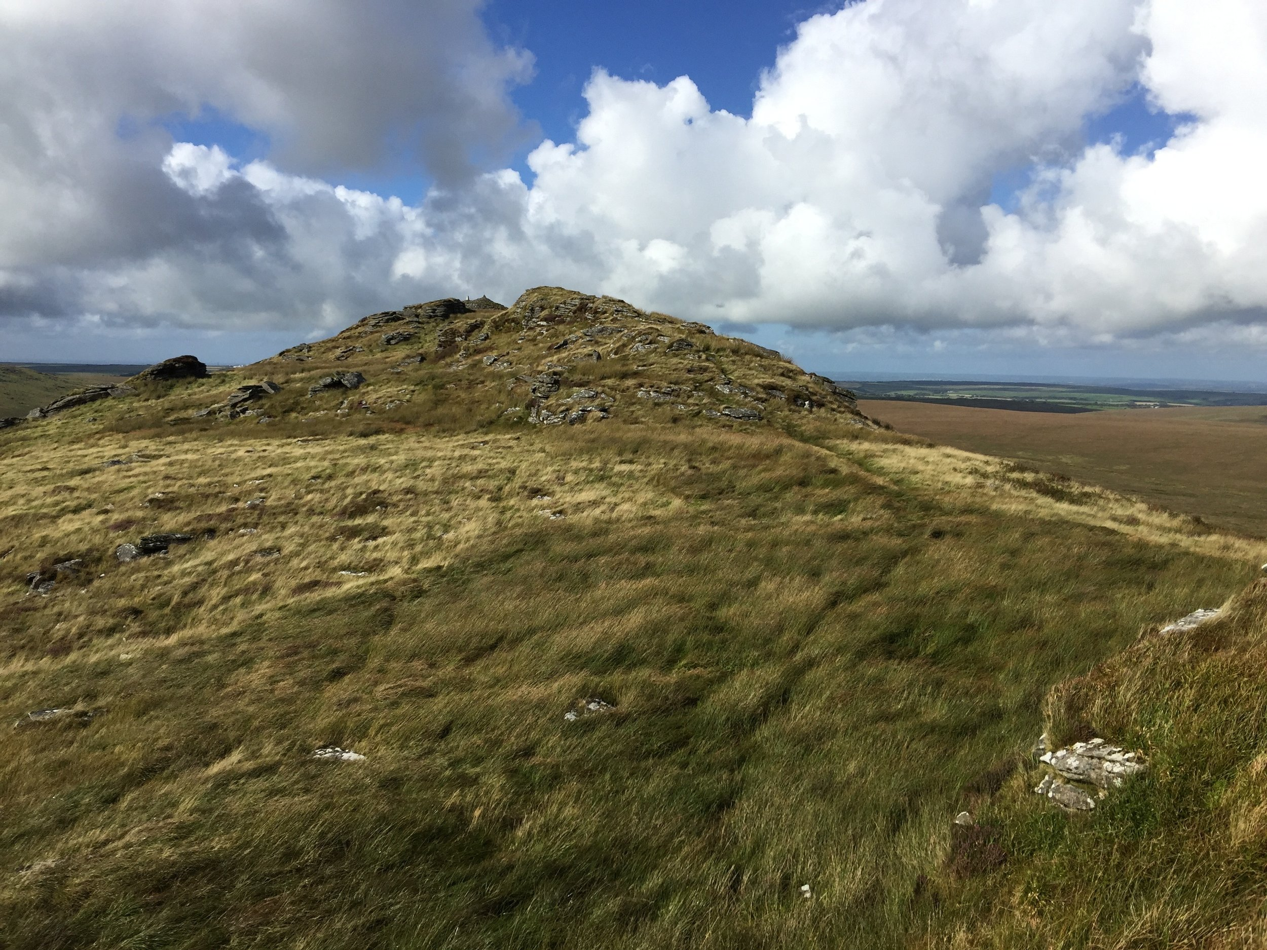 Nearby Rough Tor on Bodmin Moor with magnificent views