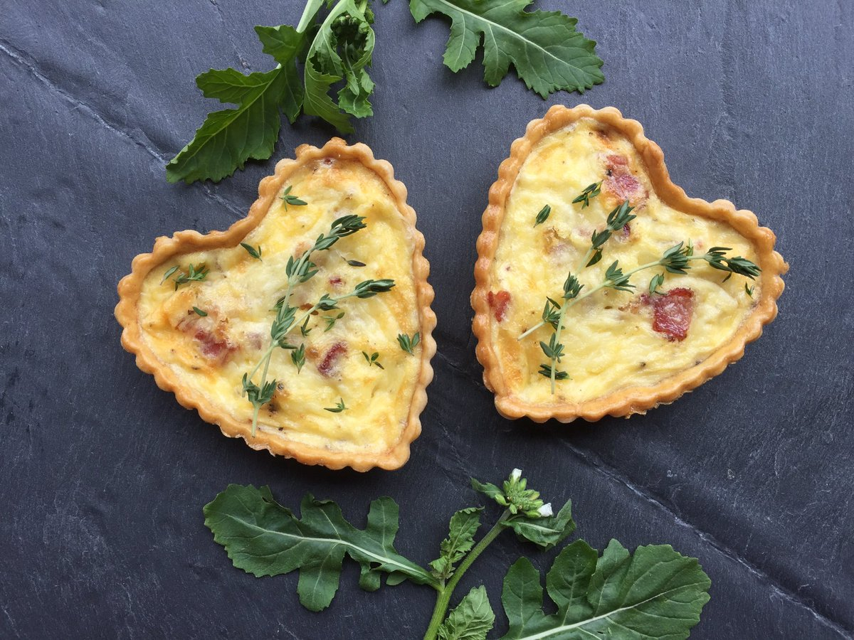 Heart shaped quiches
