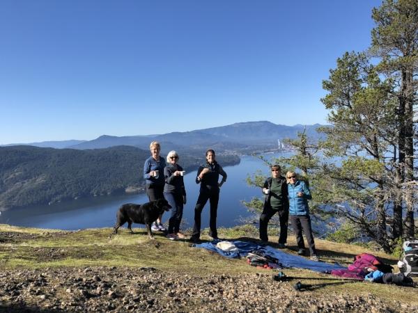 On top of Mount Erskine