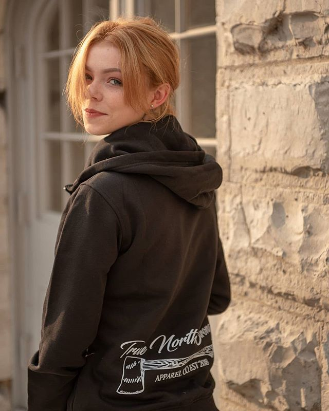 "🍁The Brand new Zip #Hoodies are now Live and available for purchase !  Available in Black or Grey . ""Always Limited, Never Over Produced"" 🍁 . . 📷 by : Bill G . Model : @malleree.simpson . Available for purchase NOW at 👇 . www.truenorthstrongclothing.com . Dont forget to Send or Tag us in photos to be featured on our page.  #TrueNorthStrongApparel #everythingstougherinthenorth #Apparelcompany #613clothing #KingstonsVeryOwn #hunt #canadianclothing  #ygk #thenorth #rural #fishing#Kingston #Timmins #Eastcoast #Sudbury #Westcoast #Northbay #SaultSteMarie #NorthernOntario #Fishing #Calgary #Hunting #BC #PEI #Moncton #London #CanadianLifestyle #Giver #beardgang #OutForARip"
