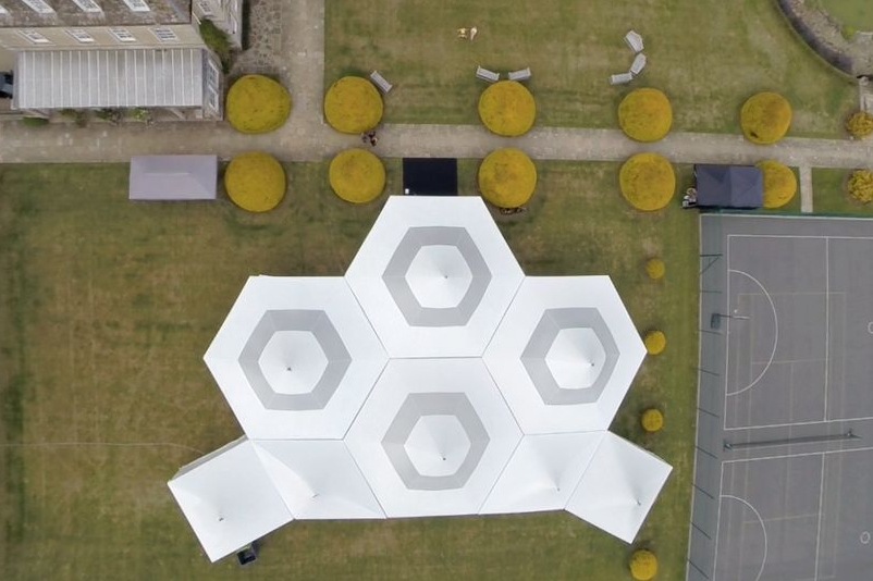 Stunning phot from the air of a school ball we've delivered on 3 consecutive occasions. Amazing venue for a school fundraiser