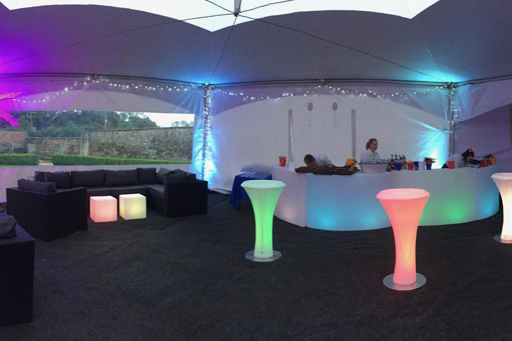 Bring clubland to you event with a selection of LED furniture. Impressive and functional