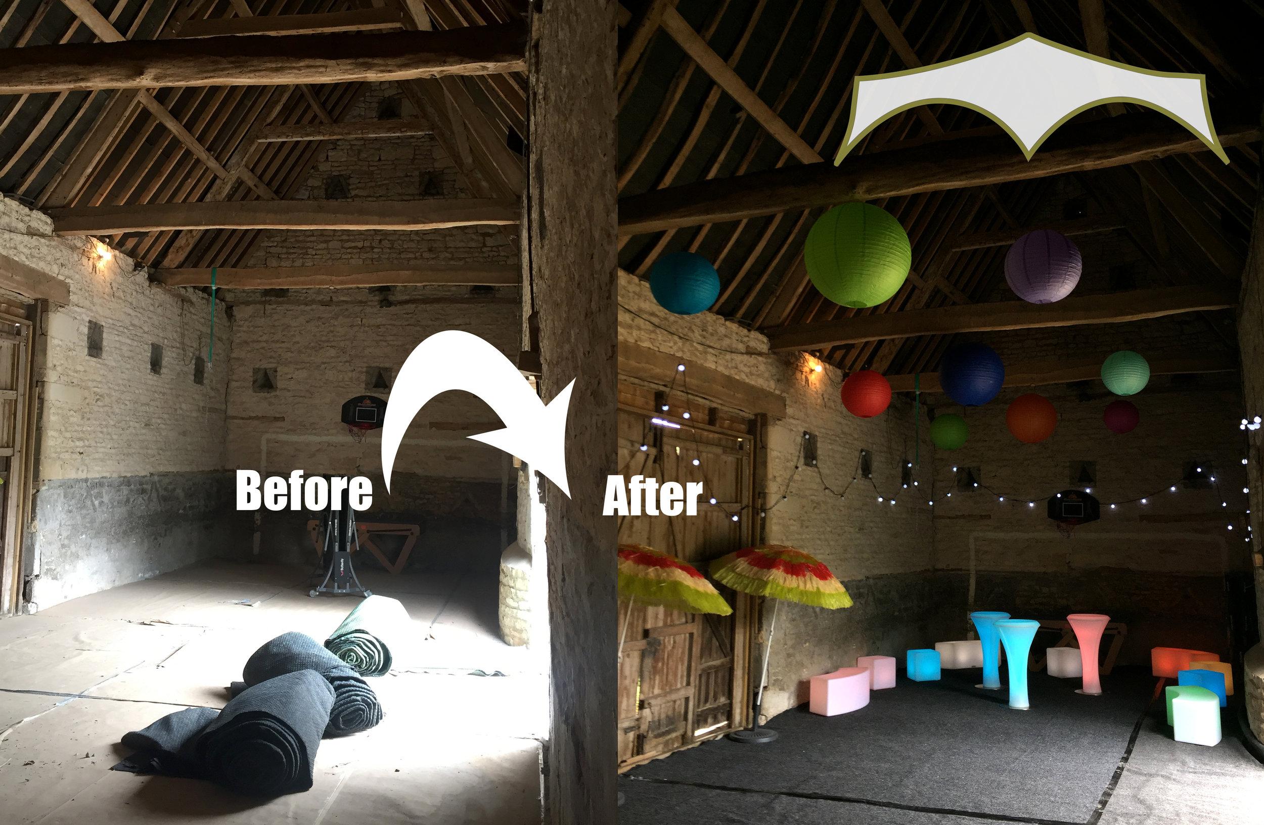 Rutland Outbuilding transformed into Ibiza Lounge!