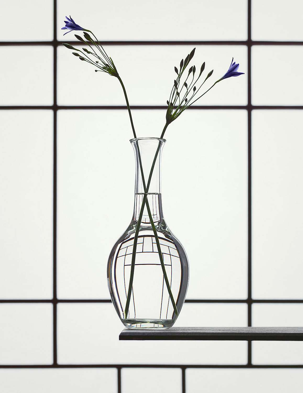 Still Life with Tritaleia van Erwin Olaf (bij Flatland) geeft de perfecte combinatie van strakke compositie en vloeiende lijnen