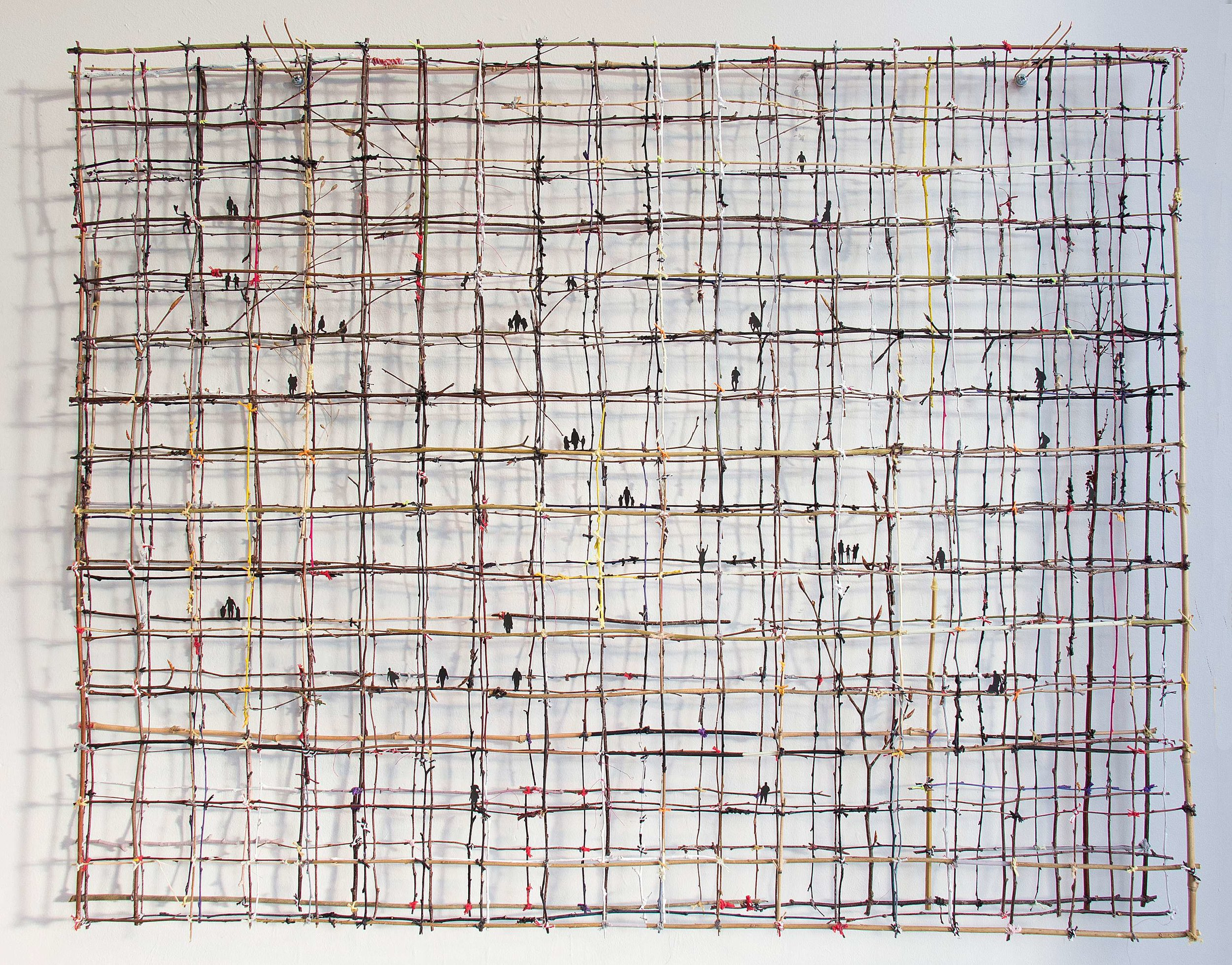 How Fragile We Are - Anita Groener; weergegeven in een uiterst breekbare structuur van twijgjes