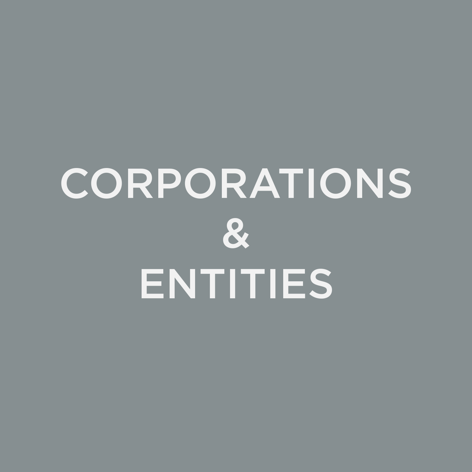 Corporations & Entities