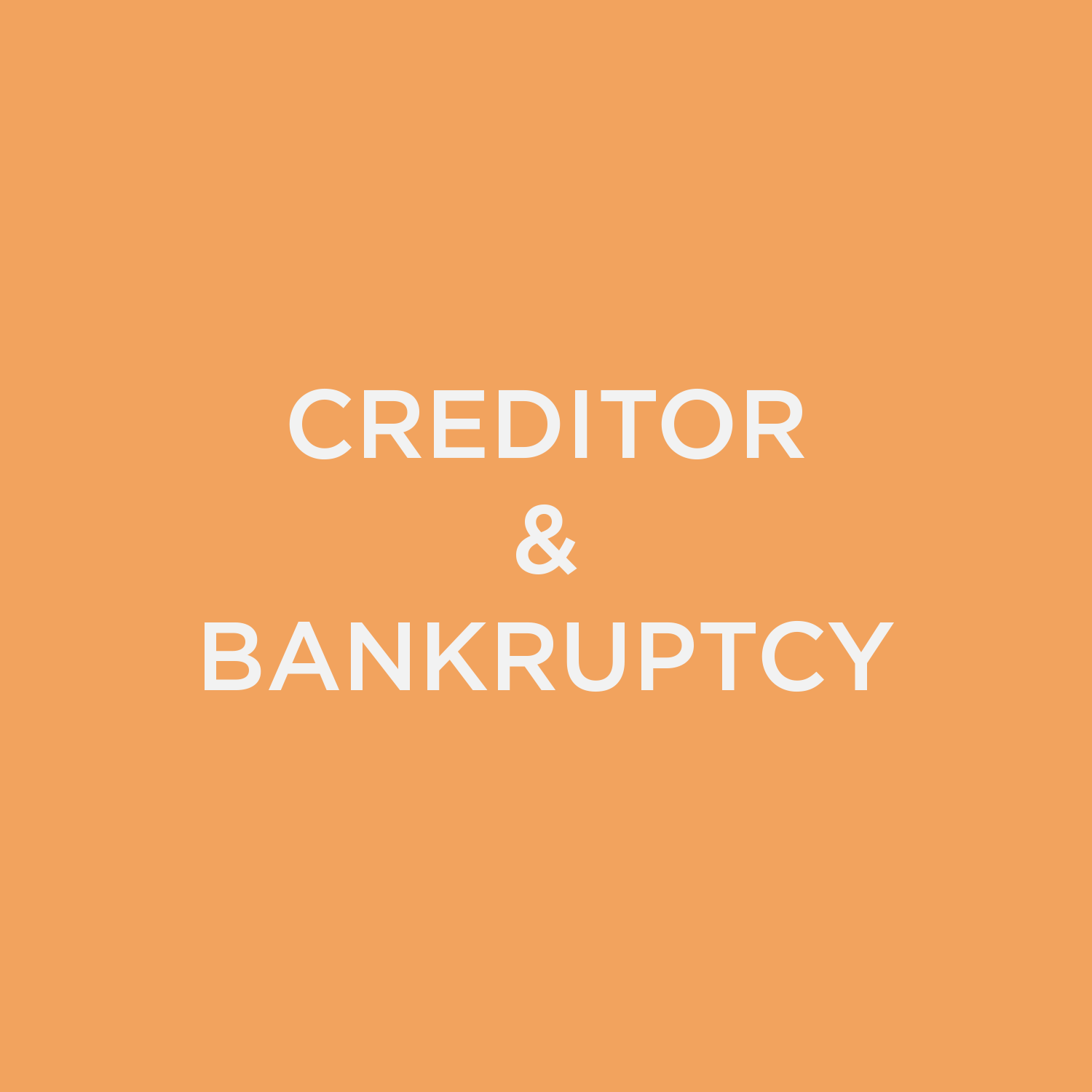 Creditor/Bankruptcy