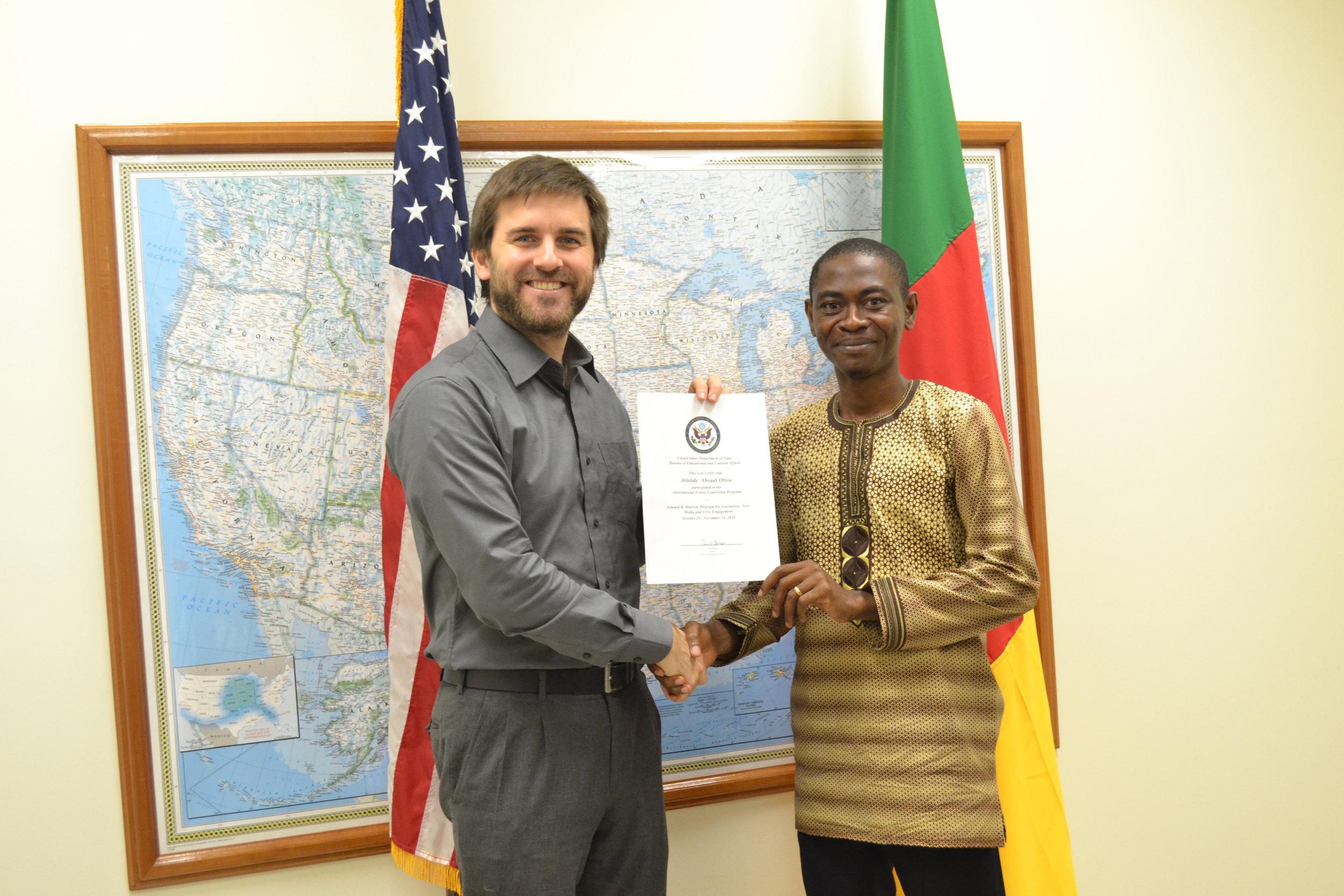 Aristide_Integrity in Journalism.JPG