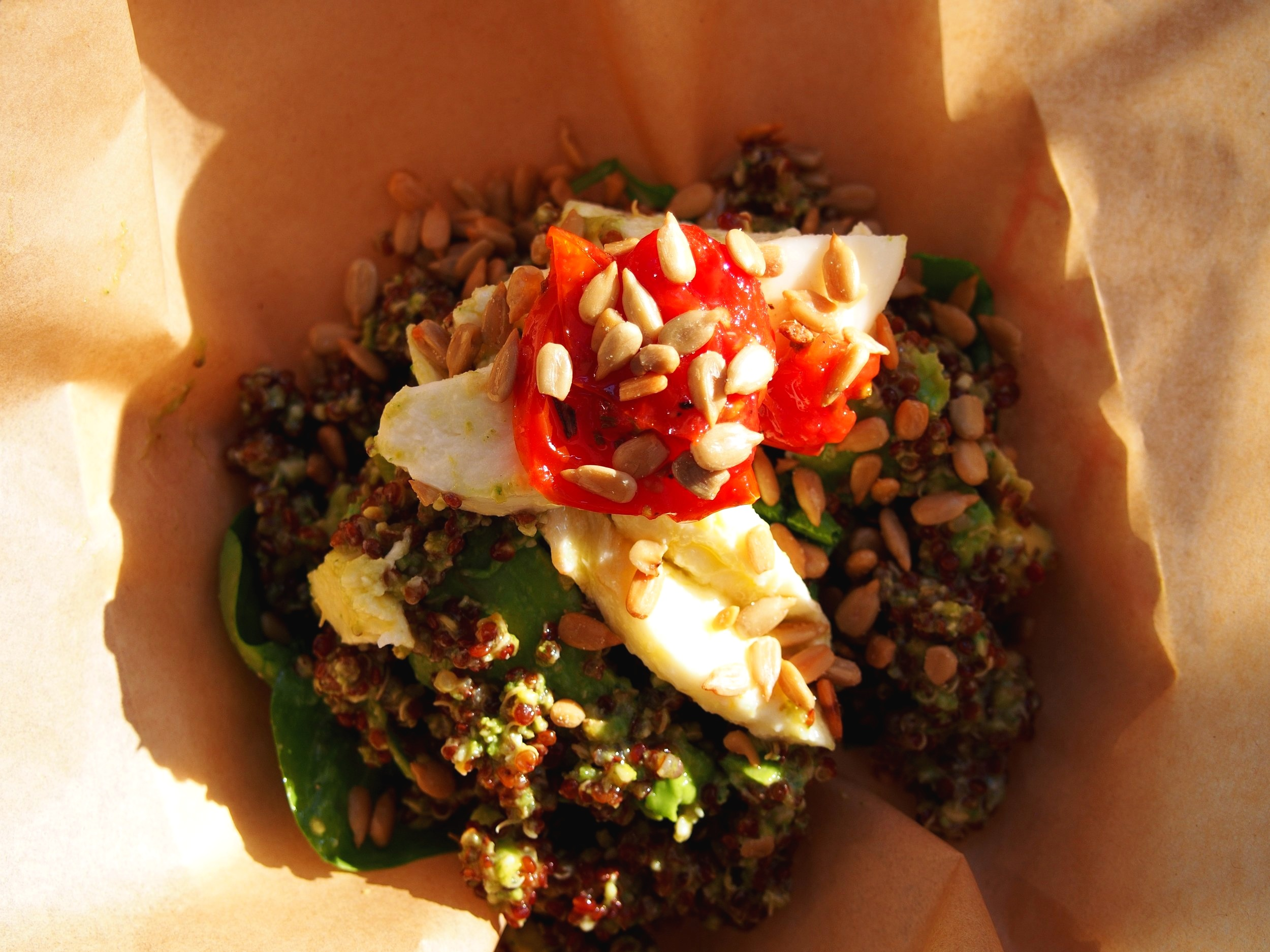 quinoa caprese salad