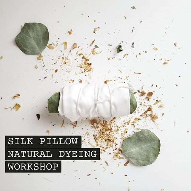 We're doing another workshop! Join us Sunday, October 27th at @plantshopgr for a silk pillow natural dyeing workshop where I will teach you all about the in's and it's of natural dyeing and you will leave with you're very own personally dyed throw pillow. There will be two sessions starting at 5:30 with limited space available. Click the link in the bio for more information and grab your ticket! #naturaldyeingworkshop #naturaldyes #silkdyeing