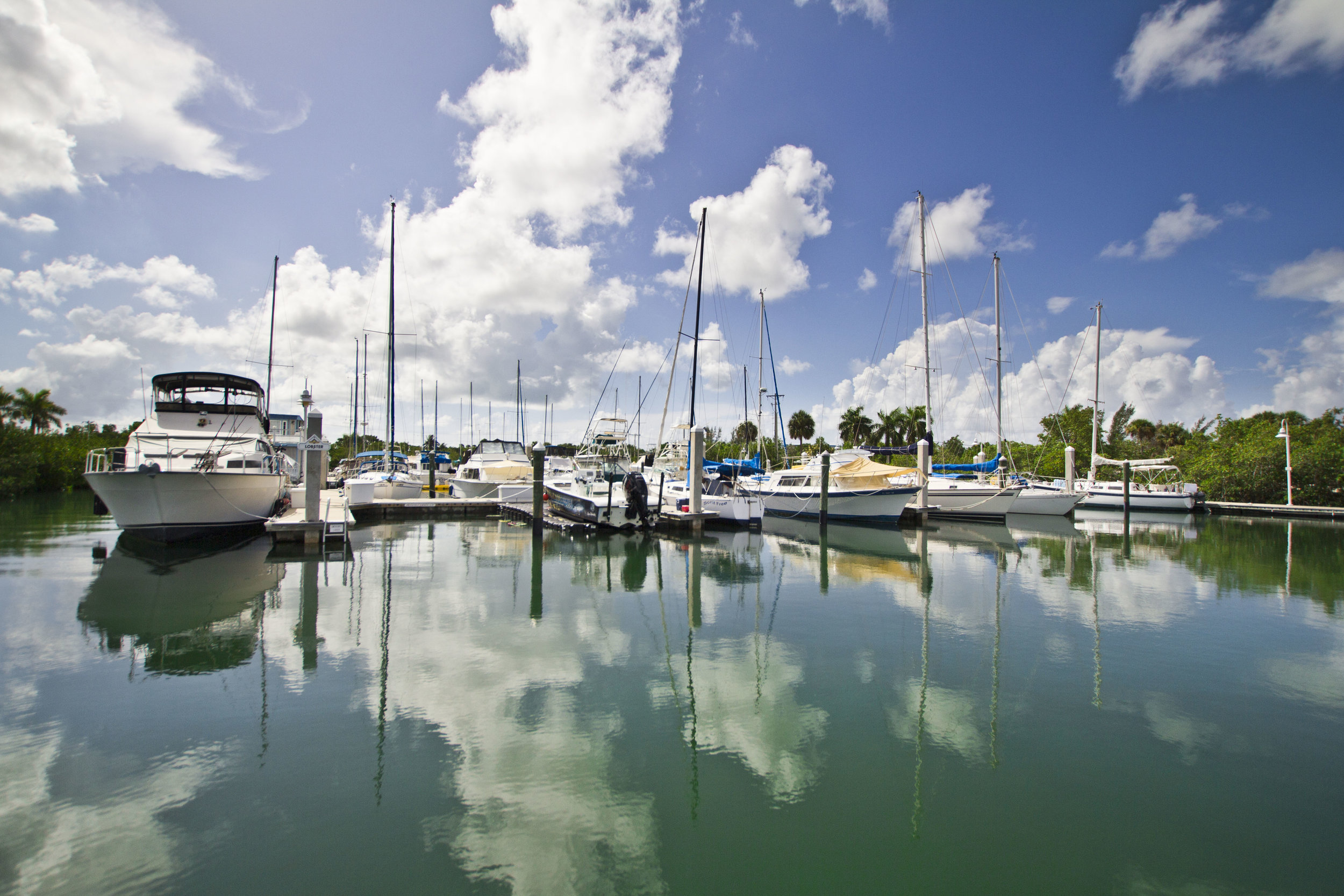 Location photography of Key West marina