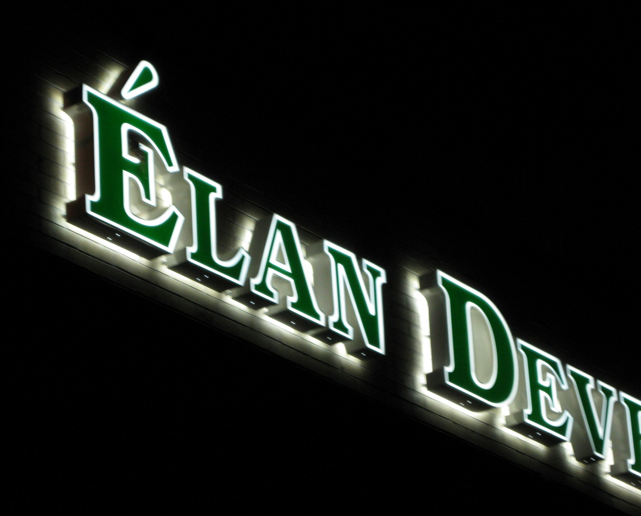 Elan Developement - Front and back channel letter sign