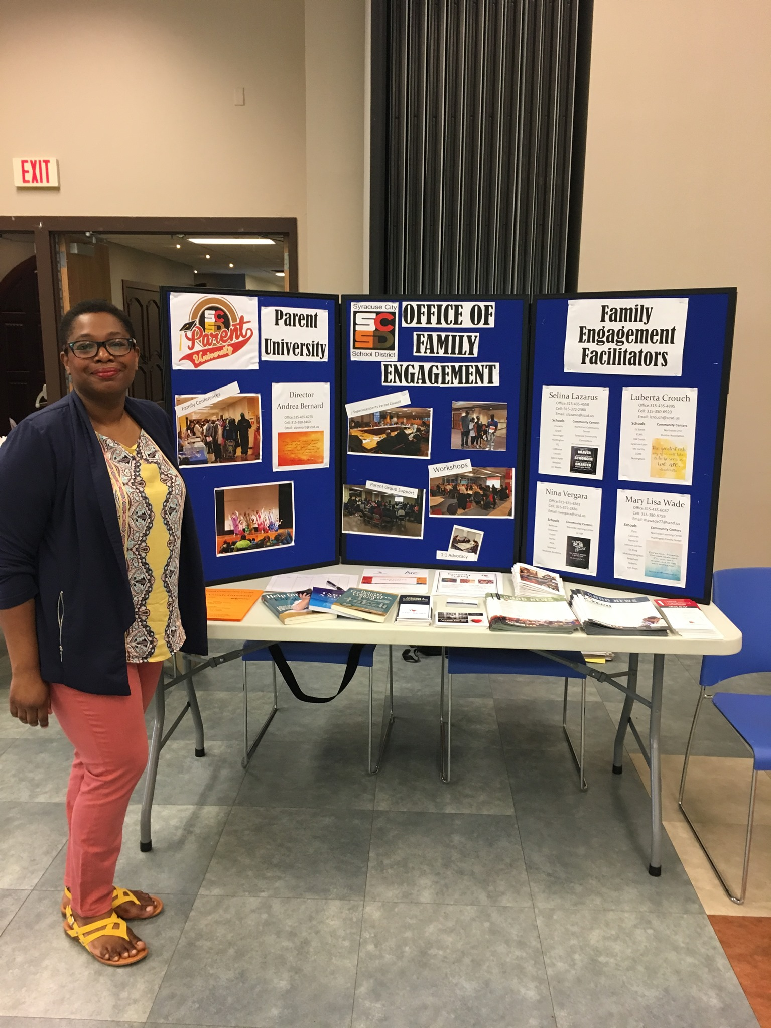 Parent University Spring 2019 resource fair.
