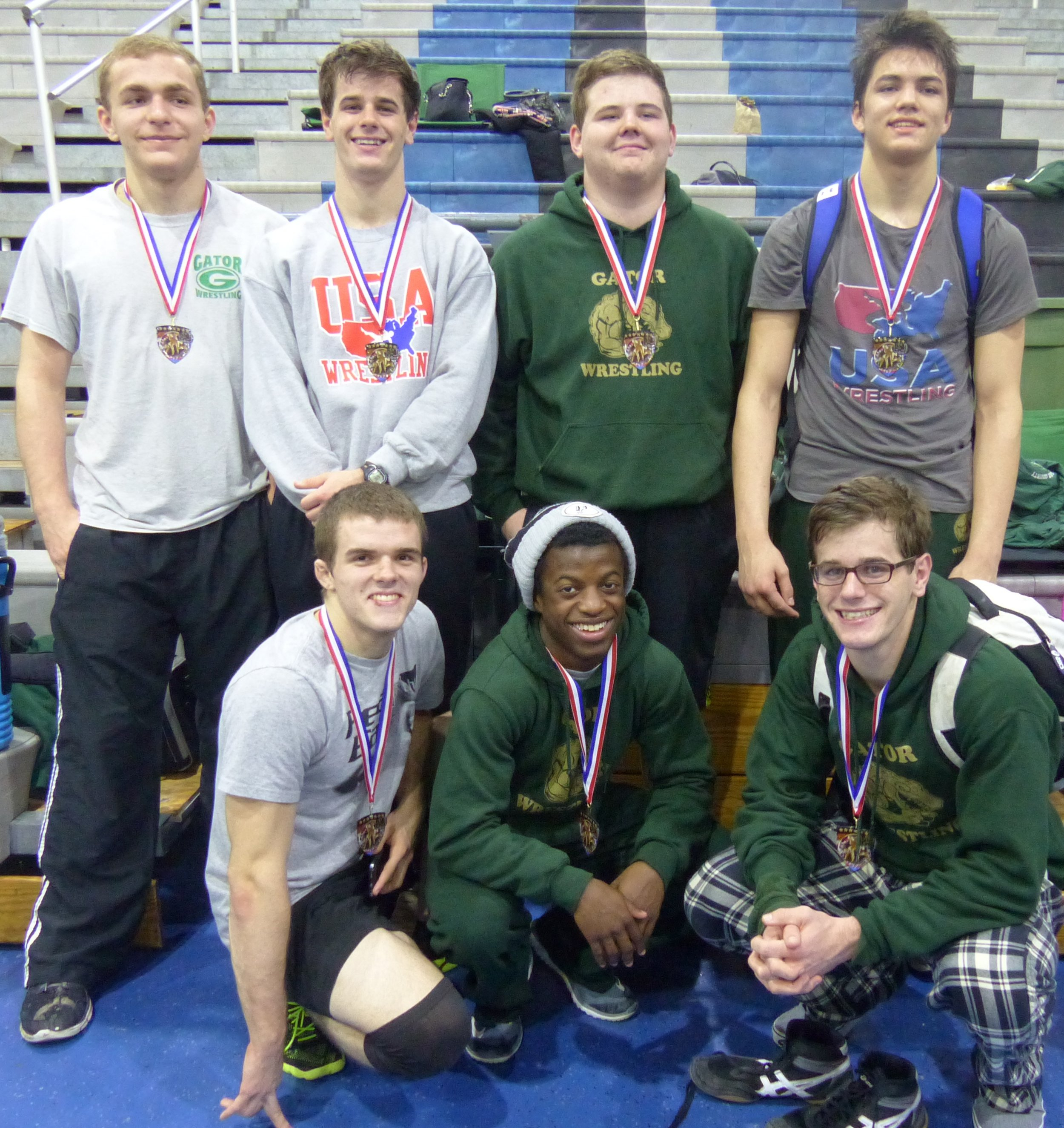 2016 REGION PLACERS                       Back L-R  Britton Jones  Dalton Soper  Brandon Rowland Nawin Hyers                                                       Front L-R  Cole White Brandon Foster David Soper