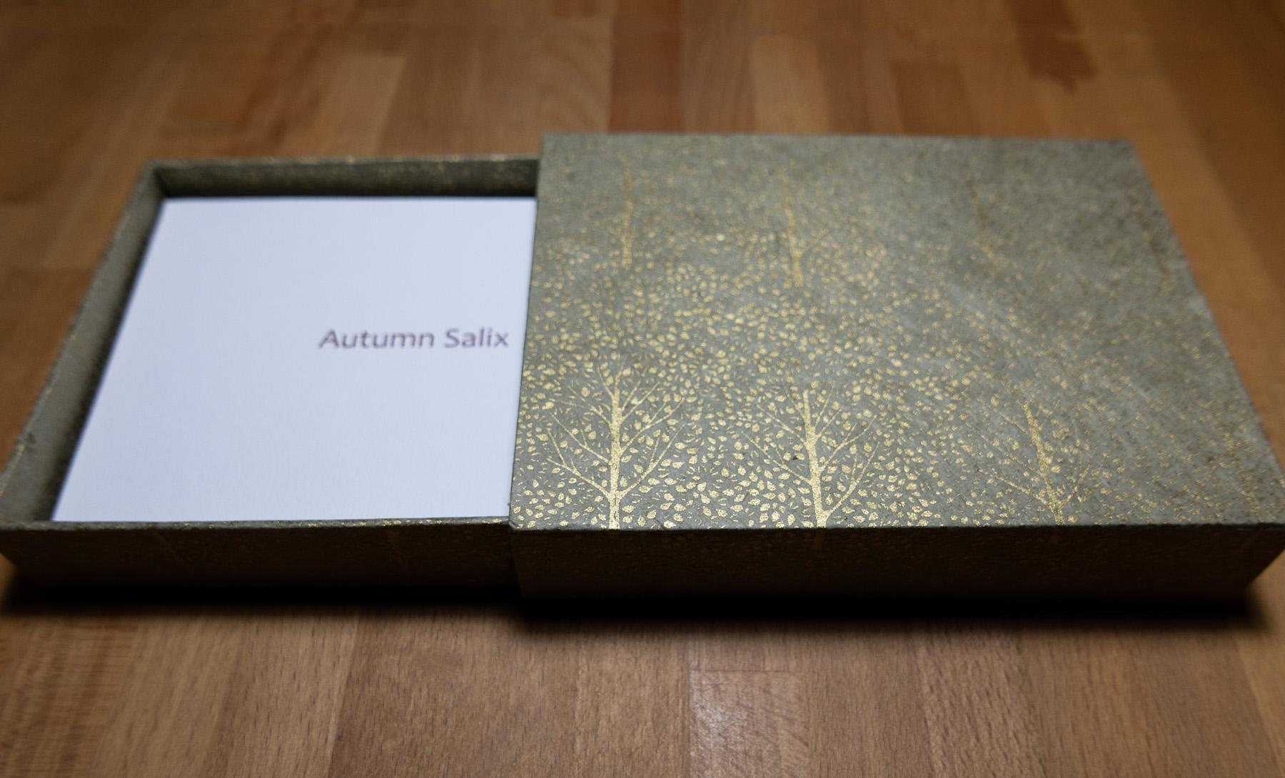 Autumn Salix matchbox style box