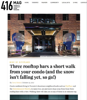 Three rooftop bars a short walk from your condo 416 MAGAZINE