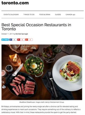 Best Special Occasion Restaurants in Toronto TORONTO.COM