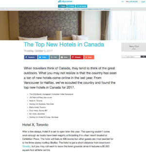 The Top New Hotels in Canada SKY SCANNER