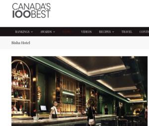 Bisha Hotel CANADA'S 100 BEST
