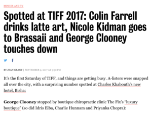 Spotted at TIFF 2017 TORONTO LIFE