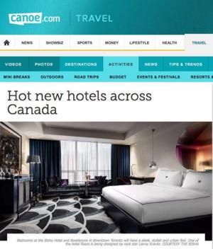 Hot New Hotels Across Canada Canoe.com