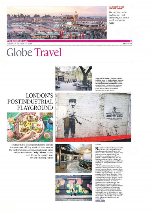 London's Postindustrial Playground THE GLOBE AND MAIL