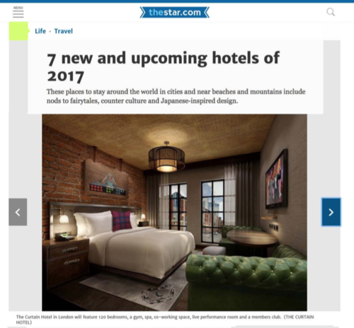 7 new and upcoming hotels of 2017 TORONTO STAR