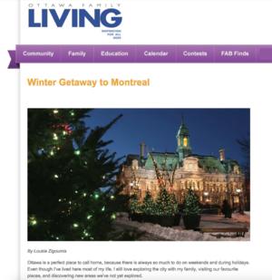 Winter Getaway To Montreal OTTAWA FAMILY LIVING