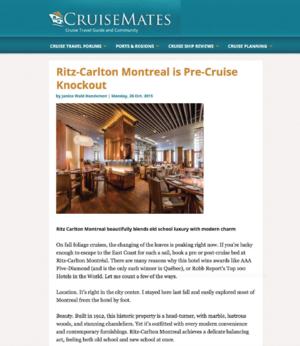 Ritz-Carlton Montreal is Pre-Cruise Knockout CRUISEMATES.COM