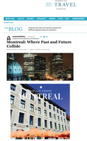 Montreal: Where Past and Future Collide HUFFINGTONPOST.COM