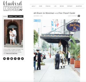 48 hours in Montreal - a free travel giude BLUEBIRD KISSES