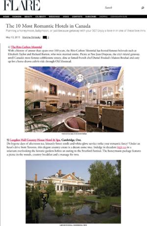 10 Most Romantic Hotels in Canada FLARE MAGAZINE