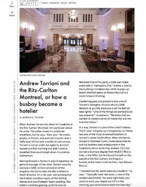 Andrew Torriani and the Ritz-Carlton LACARTE.COM