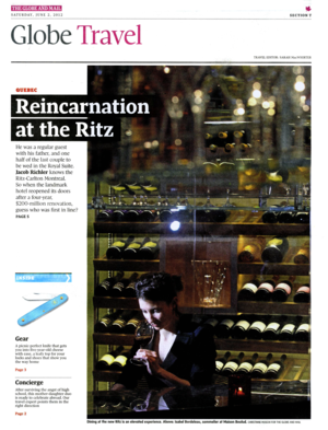 Reincarnation at the Ritz THE GLOBE AND MAIL
