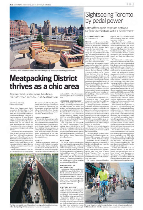 Meatpacking District Thrives OTTAWA CITIZEN
