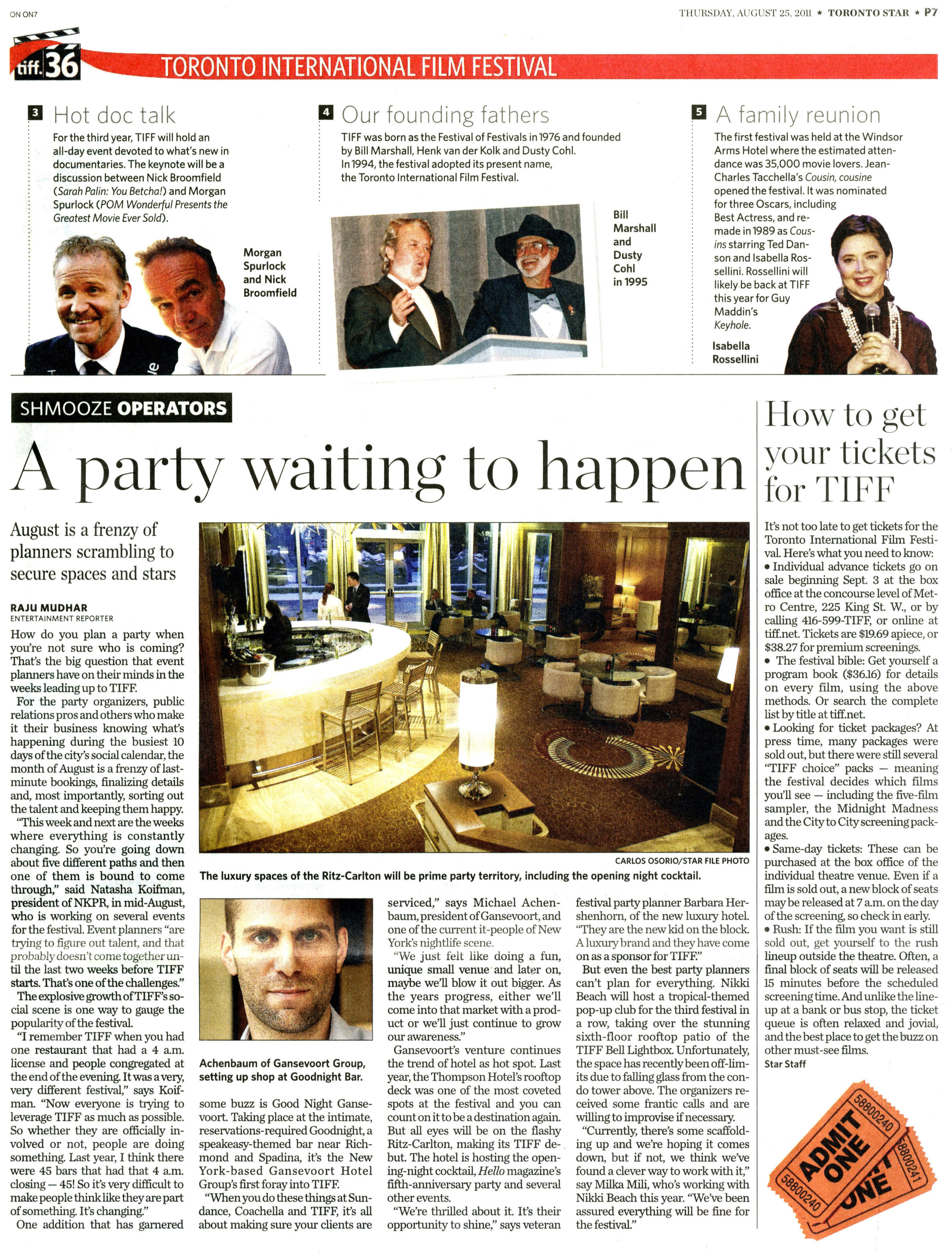 A party waiting to happen TORONTO STAR