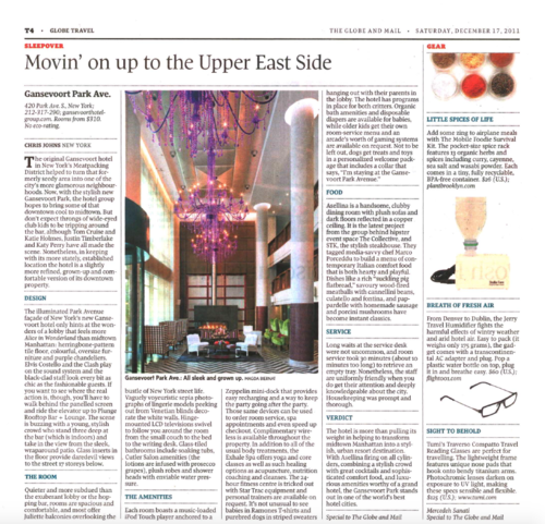 Movin' on up on the Upper East Side THE GLOBE AND MAIL